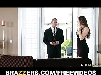 Young wife Dani Daniels fucks her husbands business partner