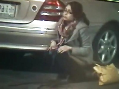 no shame caught pissing on public street