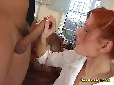 skinny redhead babe gets rough anal fucked