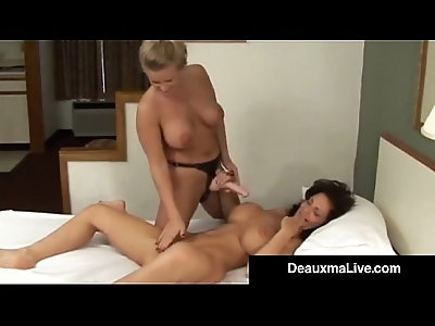 Strap On Banging With Hot Housewife Deauxma Lesbian Dru!