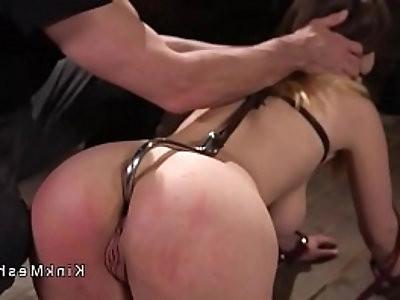 Hot ass busty brunette anal fucked