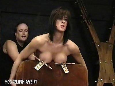 Amateur bdsm and big tit of sado masochistic english slavegirl Danii
