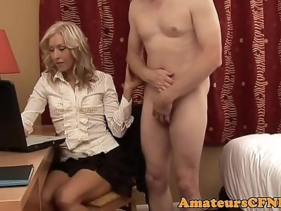 Dominant CFNM wife jerksoff cheating on her husband