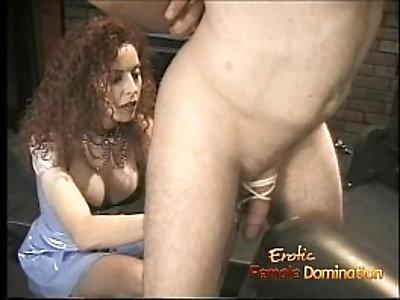 Slim redhead bitch enjoys banging her man with huge strap