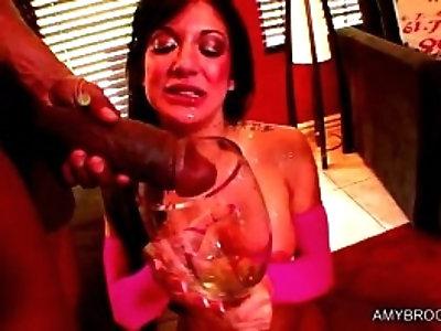 Nasty black lovers drink piss