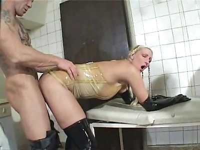 German Blondes FFMM 4some in Laundry Room