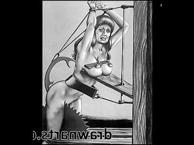 The sadism artwork is all about the beautiful suffering of sexy women