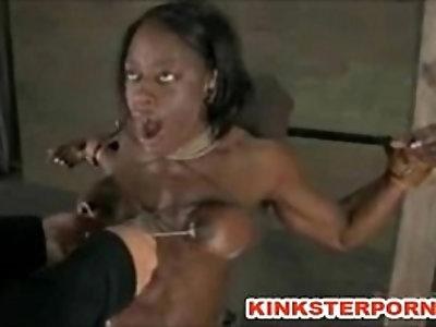 Pervert BDSM Games Slave is Bounded, Slapped, Dildoed in a Brutal Humiliation