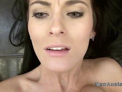 Small tittied girlfriend anal sex
