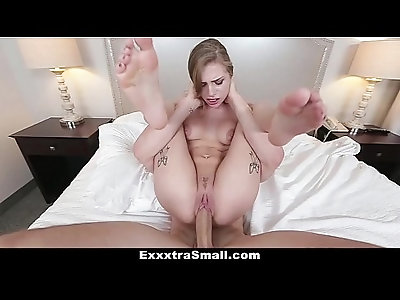 ExxxtraSmall Tiny blonde Teen Sydney Cole Gets her pussy Drilled By A Huge Cock!