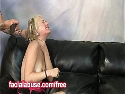 Spanked Ho Takes A Dick Deep In Her Throat