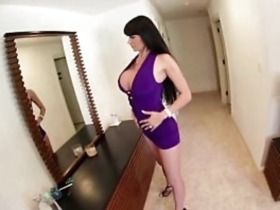 Watch horny babe oil up