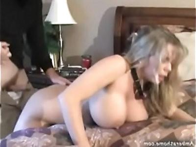 Blond milf Caught by Intruder