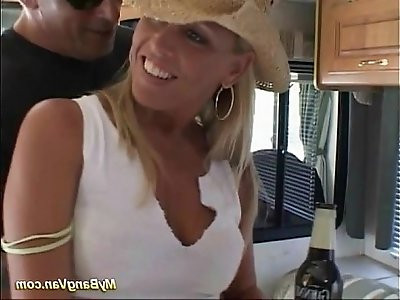 hot blonde lesbian babe pickuped for extreme fuck orgy