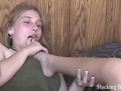 Fourway lesbian foot fetish orgy