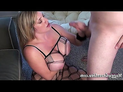 All Natural Busty Babe Maggie Green Gets Fucked Hard Body Stocking!