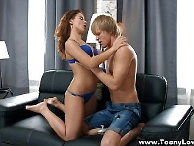 Teeny Lovers Hot teeny Jana Q Leda fuck with a creampie teen porn