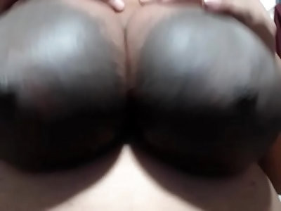 huge tits woman calling me the Nigger word
