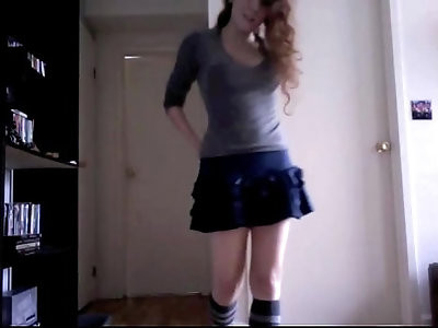 sexy black teen redhead webcam strip