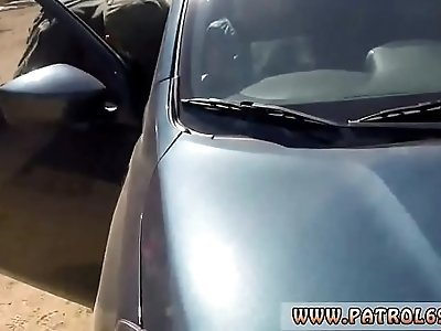 Real porn Blonde does it on the hood of a car before